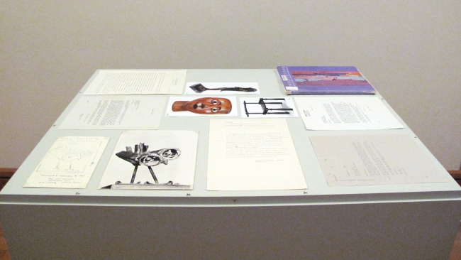 "Archives display case accompanying ""Alison Saar: Still..."" exhibition. Photograph courtesy of The David C. Driskell Center."