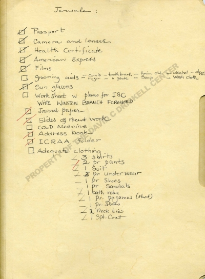 """Carl Van Vec"" Folder with Packing List (undated): Folder T-183-149. David C. Driskell Papers: Educator, David C. Driskell Center Archive."