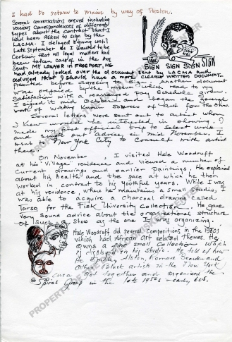 """""""Some Notes Relating to the Assemblage of the Exhibition """"Black American Artists, 1750-1950"""" for the Los Angeles County Museum of Art - June 1974-Sept 1976, Page 3"""" (undated): Box 11, Folder 15. David C. Driskell Papers: Exhibitions (Curated by David C. Driskell), David C. Driskell Center Archive."""